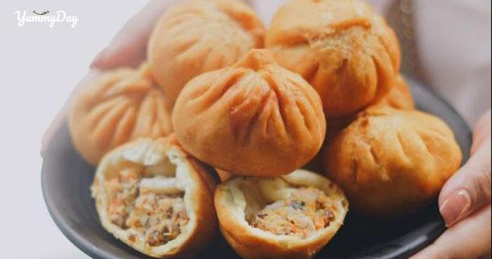 Cách làm bánh bao chiên ăn bao ghiền vừa thơm vừa đậm đà