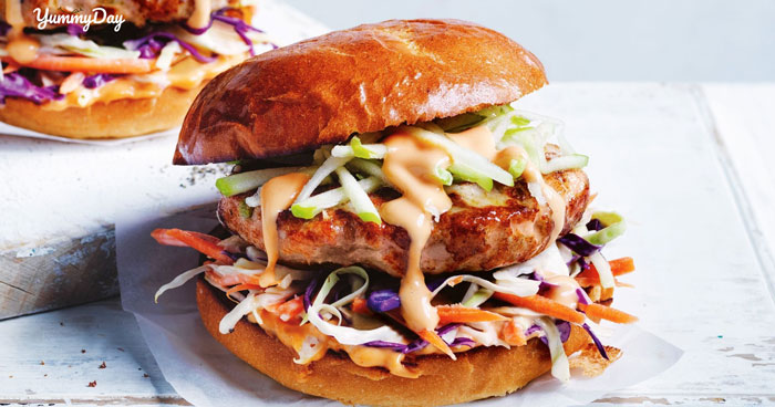Đổi khẩu vị với bánh hamburger gà siêu ngon siêu đỉnh cao