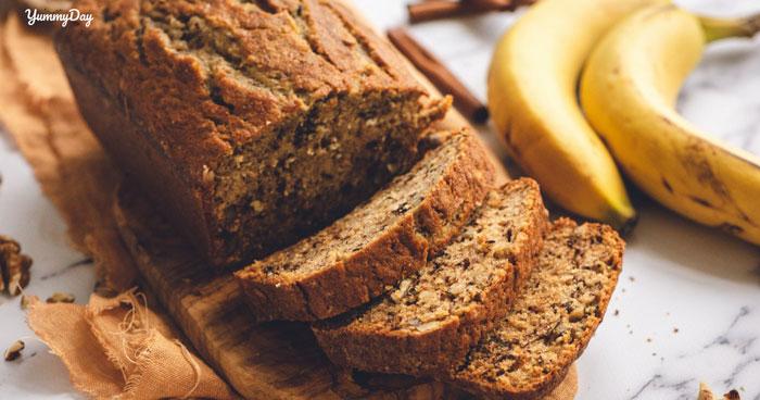 2 cách làm bánh mì chuối đơn giản, ngọt thơm đặc biệt dễ ăn