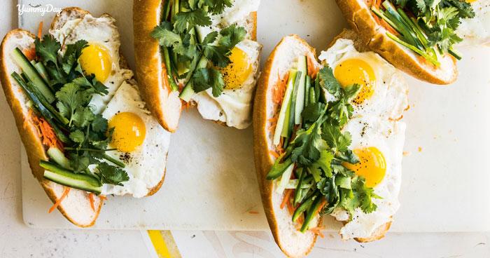 4 cách làm nhanh bánh mì trứng cho gia đình bữa sáng no nê