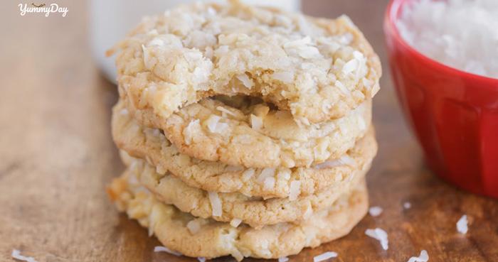 Cách làm bánh quy dừa giòn rụm, vàng thơm ý như ngoài tiệm