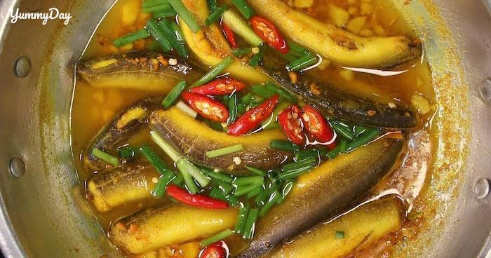 Cách làm cá chạch kho nghệ, tiêu, sả ớt ngon ơi là ngon