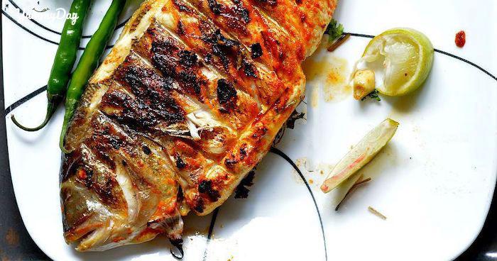 Cá dìa nướng muối ớt và giấy bạc vô cùng thơm ngon