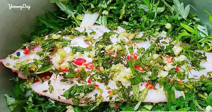 Cá hấp ngải cứu hương vị đã ngon lại còn nên vị thuốc