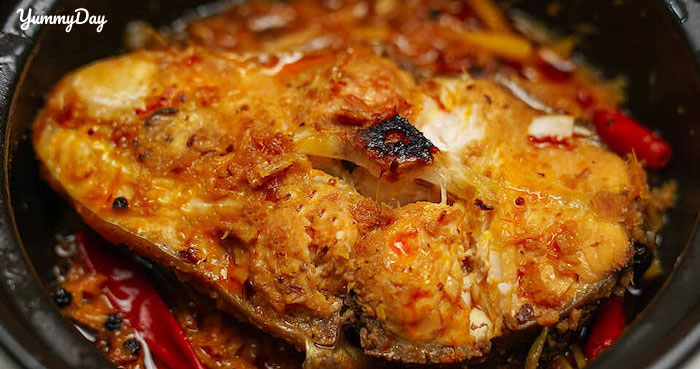 Món cá mè kho riềng hấp dẫn, ăn một miếng là ghiền cả đời