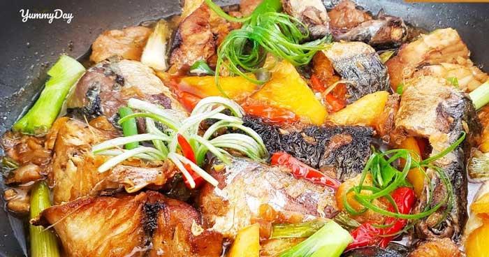 Đậm đà hương vị với cá nục kho ngon ngất ngây con gà tây
