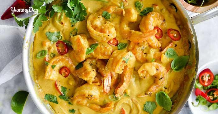 Cà ri tôm thơm ngon bổ dưỡng đa dạng cho thực đơn gia đình