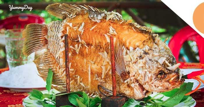 Cách làm cá tai tượng chiên xù con to thù lù ăn cực thích