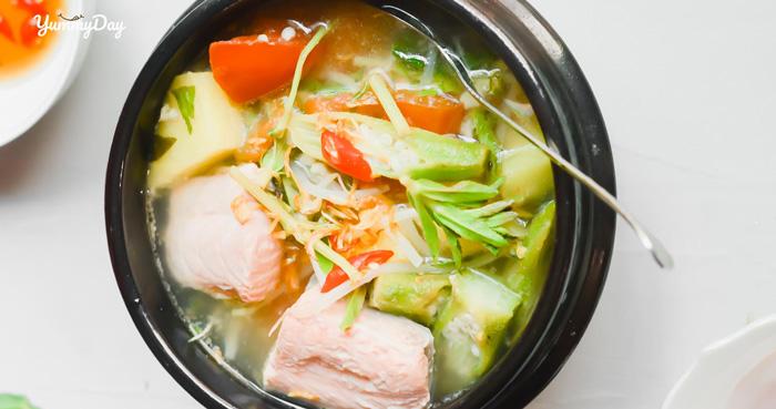 Cá tầm nấu canh chua ngon ấm bụng cho những ngày se lạnh