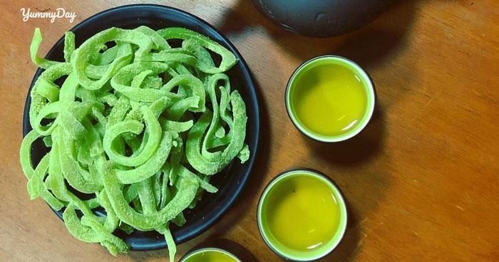 Hướng dẫn cách làm mứt dừa trà xanh vừa đổi vị lại thơm ngon