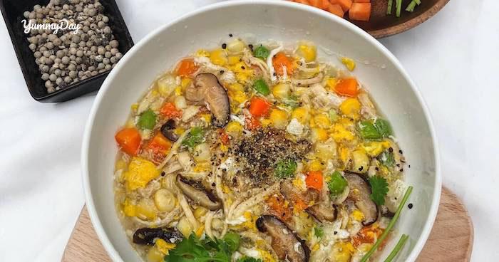 Cách nấu súp gà nấm hương bổ dưỡng thơm ngon cả nhà đều mê