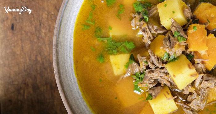 Cách nấu canh bí đỏ thịt bò bằm cực thơm ngon và bổ dưỡng