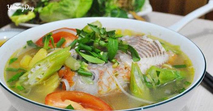 Cách nấu canh chua cá diêu hồng chuẩn ẩm thực Việt