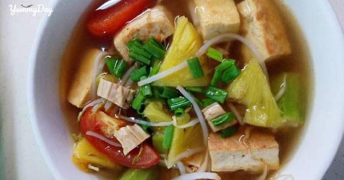 Cách nấu canh chua chay thanh mát cho buổi trưa nắng nóng
