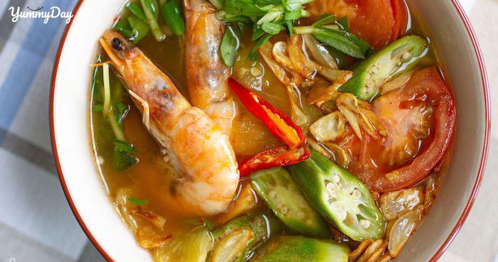 Cách nấu canh chua tôm đơn giản dễ làm chuẩn phong cách Nam Bộ