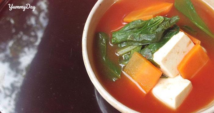 Cách nấu món canh đậu phụ cà chua siêu dễ làm mà siêu ngon