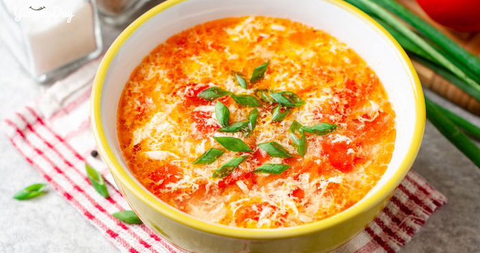 Cách nấu canh trứng đậu phụ với cà chua thơm ngon đưa cơm