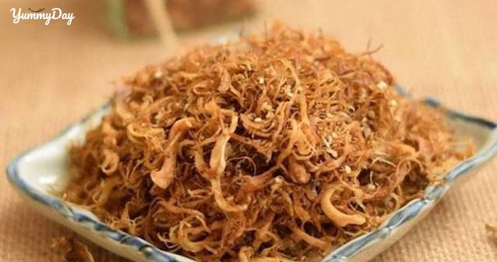 Cách làm chà bông chay từ nấm đông cô, nấm bào ngư