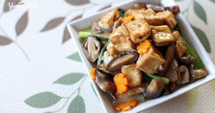 Cách làm món đậu hũ kho nấm rơm thơm ngon tại nhà