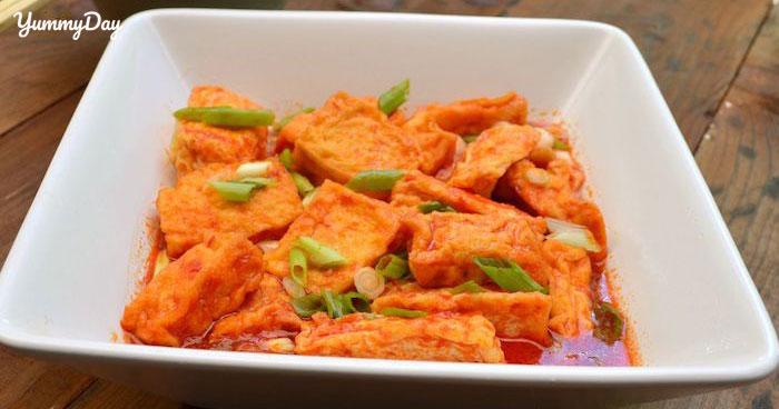 Cách nấu đậu hũ sốt cà chua thơm ngon trọn vị cho ngày chay