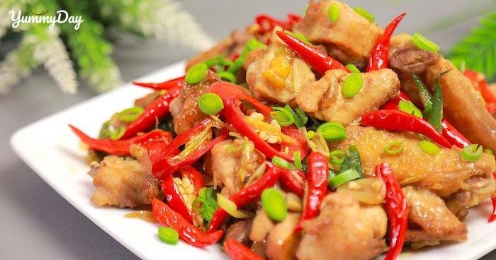 Cách làm món gà xào sả ớt ngon không cưỡng nổi