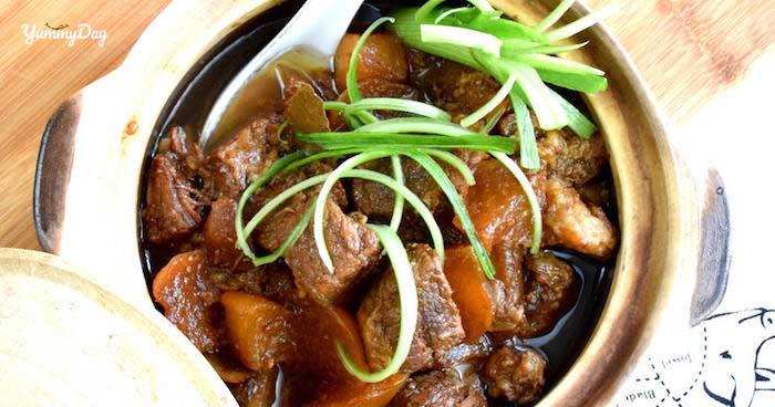 Cách nấu món gân bò hầm thuốc bắc ngon miễn chê cho cả nhà