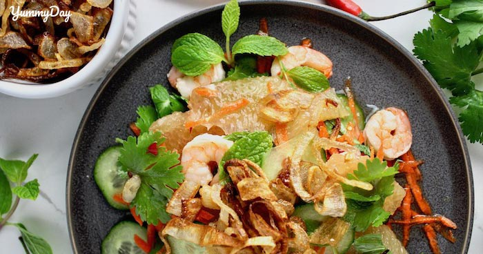 Hướng dẫn cách làm gỏi bưởi tôm thịt chua ngọt ngon lạ miệng