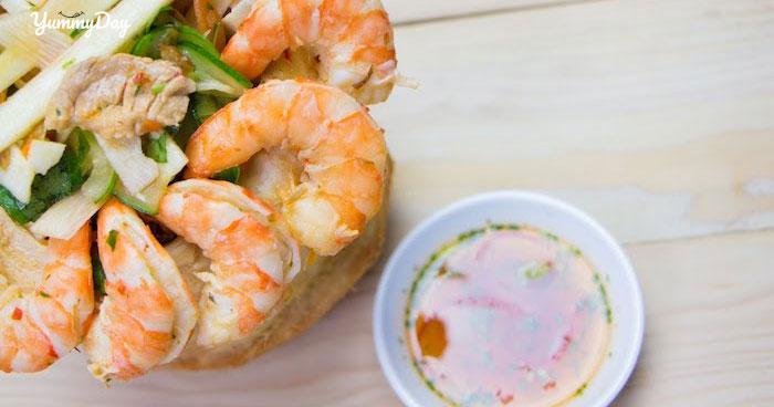Bí quyết làm món gỏi củ dừa tôm thịt chua cay siêu hấp dẫn