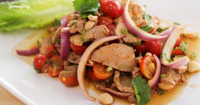 Cách làm gỏi thịt heo ngũ sắc ăn ngon hấp dẫn cho cả nhà