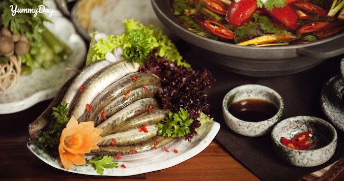 Cách nấu lẩu cá kèo lá giang và rau đắng ngon hết sẩy