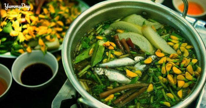 Cách nấu lẩu cá linh bông điên điển vô cùng thơm ngon