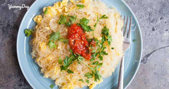 Thay đổi khẩu vị với món miến xào trứng siêu thơm ngon