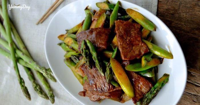 Cách nấu món măng tây xào thịt bò cả nhà ai đều khen ngon