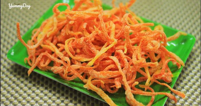 Mứt cà rốt sợi đẹp mắt đủ hương vị ngọt ngào mừng Tết
