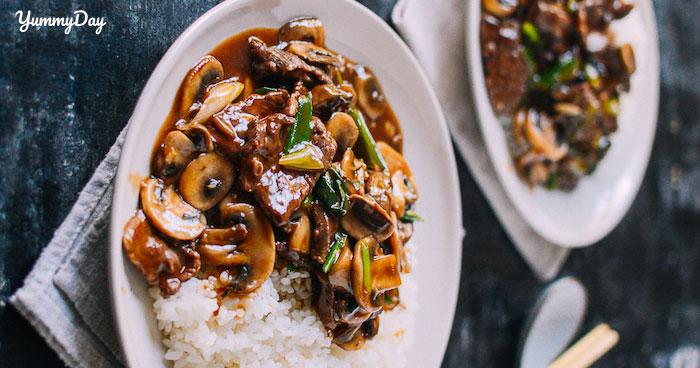 Nấm xào thịt đơn giản trong cách nấu, ngon trong cách ăn
