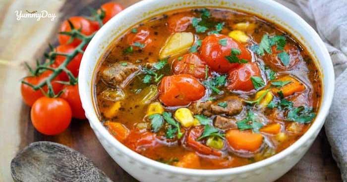 Hướng dẫn nấu món canh thịt bò cà chua mới lạ cực hấp dẫn