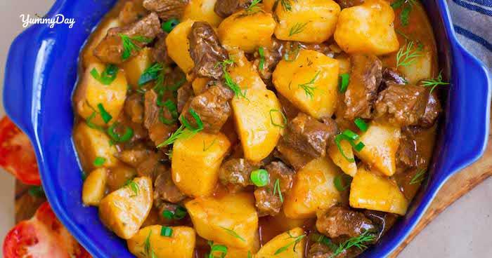 Thịt bò hầm khoai tây - Món ngon ai cũng có thể làm được