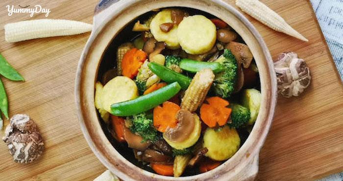 Cách làm rau củ kho chay ăn là ghiền
