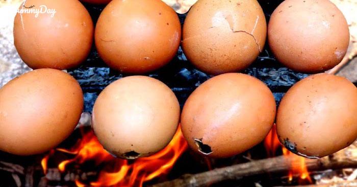 2 cách làm trứng gà nướng ăn là mê không lối về